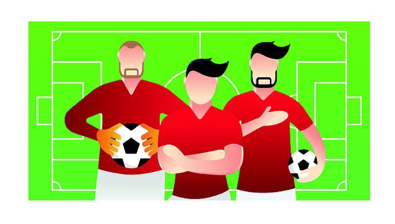 Football team graphic