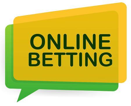 Online betting speech bubble