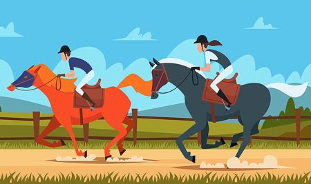 Horse racing graphic